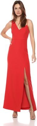 BCBGMAXAZRIA Azria Women's Sleeveless Asymmetrical Bodice Gown