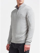 Gant Lightweight Cotton Knit Fleece, Grey Melange