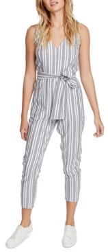 1 STATE 1.state Striped Belted Jumpsuit