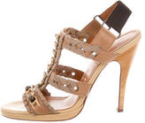 Lanvin Leather Cage Sandals