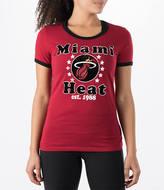 New Era Women's Miami Heat NBA Vintage Ringer T-Shirt