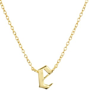 Argentovivo Gothic Initial Pendant Necklace, 16
