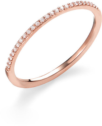 Lana 14k Gold Thin Flawless Diamond Stack Ring
