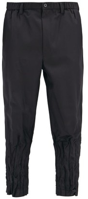 Issey Miyake Crinkled-cuff Technical Jersey Trousers - Black