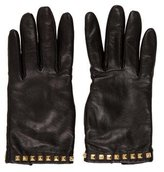 Mulberry Embellished Leather Gloves