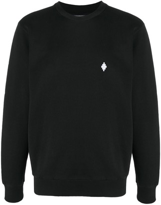 Marcelo Burlon County of Milan Cross Regular Crewneck Black White