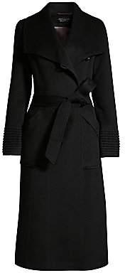 Sentaler Women's Long Wide-Collar Alpaca Wrap Coat
