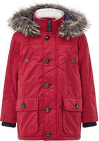 Monsoon Richie Red Parka Coat