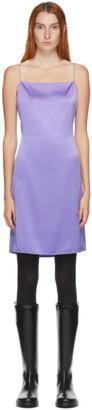 Helmut Lang SSENSE Exclusive Purple Silk Open Back Mini Dress
