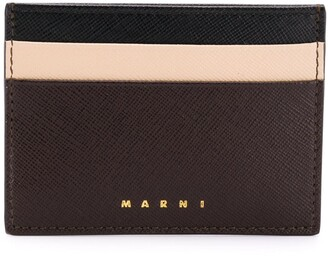 Marni logo embossed card holder