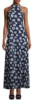 Lucca Couture Adalyn Floral-Print Maxi Dress, Blue Pattern