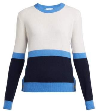 Allude Colour-block Cashmere Sweater - Womens - Blue Multi