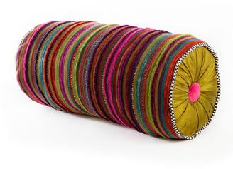 Mackenzie Childs Paradise Stripe Bolster Pillow