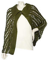 Accessory Network Pointelle Cape With Collar