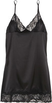 Stella McCartney Selma Dancing lace-trimmed stretch-silk chemise