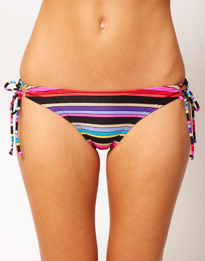 Roxy Baja California Stripe 70's Lowrider Tie Side Bottom