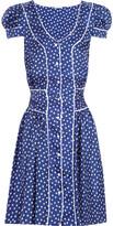Rosamosario Polka Dots Loca silk-satin twill dress