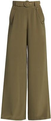 Zimmermann Ladybeetle Silk Wide-Leg Pants