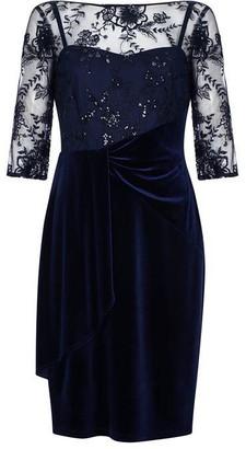 Ariella London Lanata Embroidered Velvet Dress
