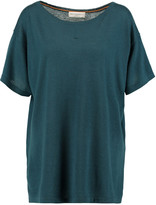 Amanda Wakeley Pointelle-trimmed cashmere top