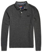 Superdry Long Sleeved Cotton Polo Shirt