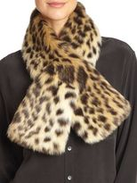 Fabulous Furs Sable Faux Fur Pull-Through Scarf