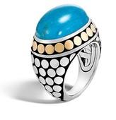 John Hardy Women's Dot Silver & Turquoise Dome Ring