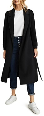 Reiss Leah Long Length Belted Coat