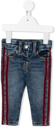MonnaLisa Stripe Appliques Jeans