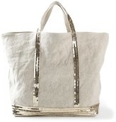 Vanessa Bruno Sequin Embellished Tote - women - Linen/Flax - One Size