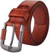 Teemzone Men's Genuine Leather Casual Style Jean Single Prong Belt