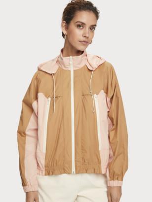 Scotch & Soda Long sleeve zip up wind breaker jacket | Women