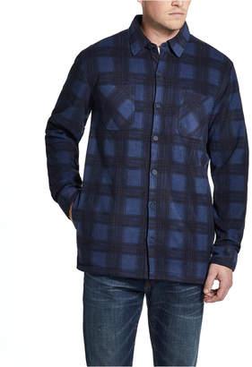 Weatherproof Vintage Men Fleece-Lined Plaid Shirt-Jacket
