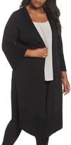 Foxcroft Plus Size Women's Mila Bell Sleeve Long Cardigan