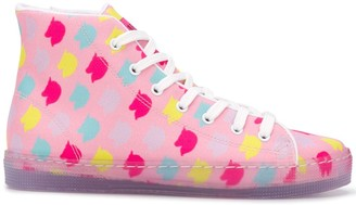 Ireneisgood Graphic Print High-Top Sneakers