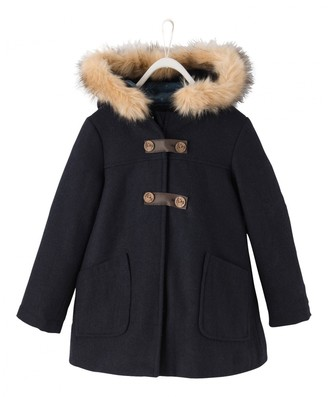 Mantu Blue Cotton Coat for Women