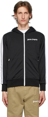 Palm Angels Black Hooded Classic Track Jacket