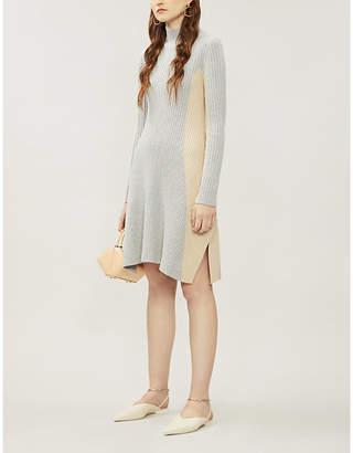 Sportmax Medeola colour-blocked knitted mini dress