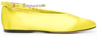 J.W.Anderson Ankle Bracelet Satin Ballerina Shoes