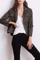Velvet Olive Twill Jacket