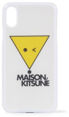 MAISON KITSUNÉ Fox hologram iPhone case