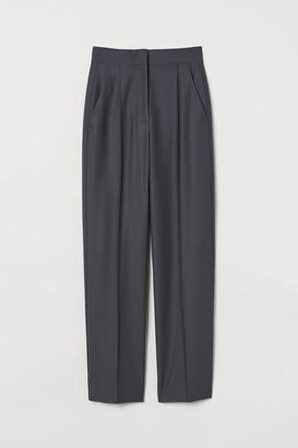 H&M Wool-blend Dress Pants - Gray