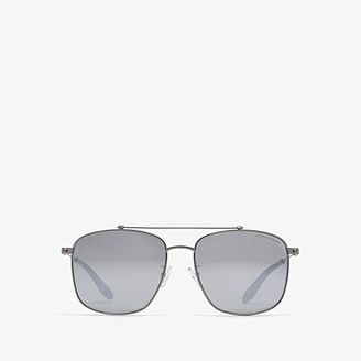 Alexander McQueen AM0124SK (Dark Ruthenium/Silver) Fashion Sunglasses