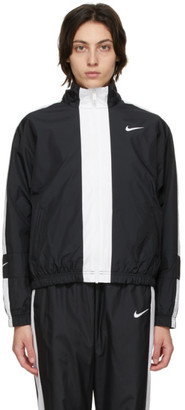 Nike Black and White Sportswear Repel Track Jacket
