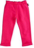 Gucci Felted Jersey Track Pants, Dark Pink, Size 9-36 Months