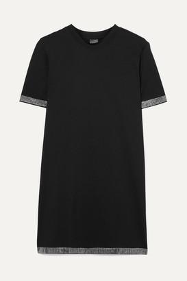 Adam Selman Crystal-embellished Stretch Mini Dress - Black