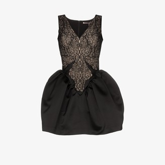 Christopher Kane Cupcake satin and lace mini dress