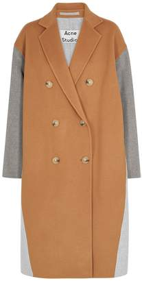 Acne Studios Panelled Double-breasted Wool Coat
