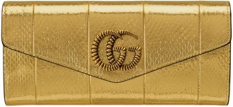Gucci Broadway leather clutch with DoubleG