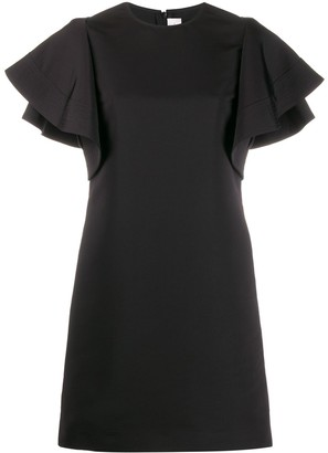 Victoria Victoria Beckham Peplum Sleeve Short Dress
